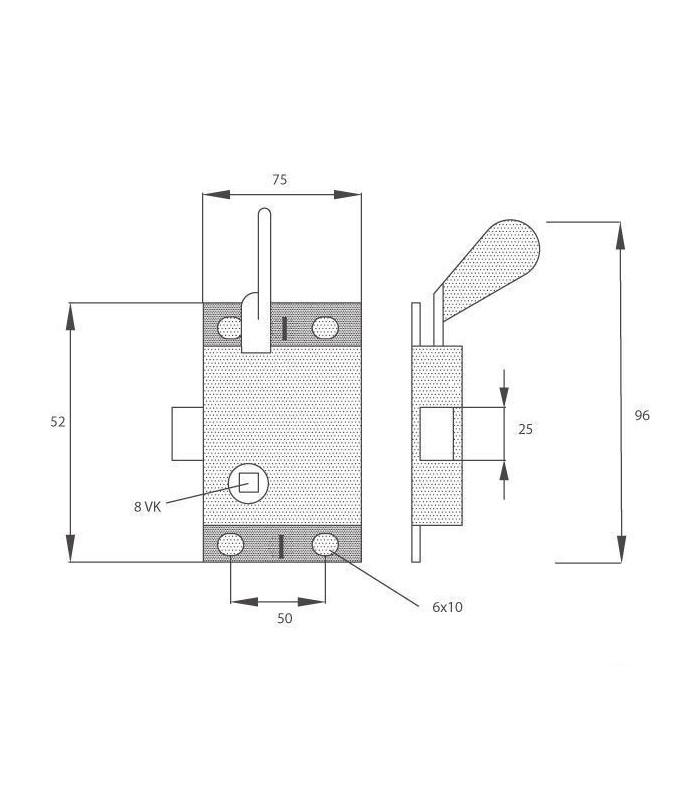 serrure interieure de porte droite adaptable massey ferguson et ford 3473298m91 83909273. Black Bedroom Furniture Sets. Home Design Ideas
