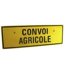 PANNEAU SIMPLE FACE CONVOI AGRICOLE EN ALU