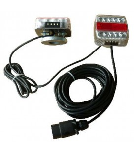 KIT FEUX A LEDS 12V AIMANTES CABLE 7.50M