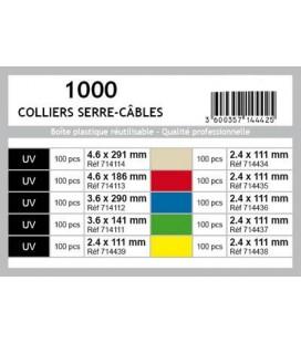COFFRET 1000 COLLIERS DE SERRAGE ASSORTIS