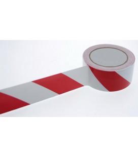 ROULEAU ADHESIF PVC DANGER ROUGE/BLANC 50MM x 33M