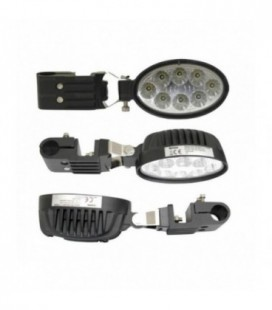 PHARE DE TRAVAIL OVALE A LED 1800 LUMENS +SUPPORT