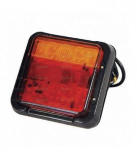 FEU ARRIERE CARRE LED 12/24V