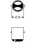AMPOULE 12V 45 40 W BA20D