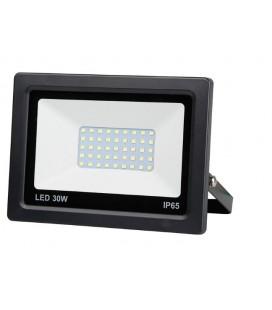 PROJECTEUR LED EXTRA PLAT NOIR 30W 2400LM