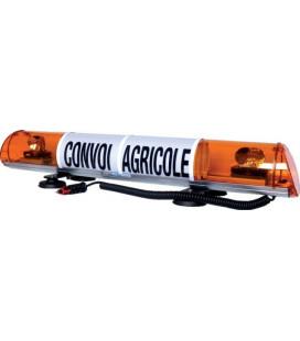 RAMPE DE SIGNALISATION CONVOI AGRICOLE LONGUEUR 970MM MAGNETIQUE 12V