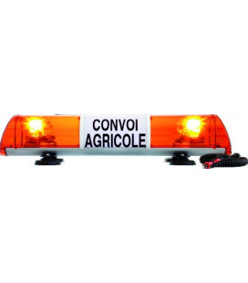 RAMPE DE SIGNALISATION 12V 755MM CONVOI AGRICOLE MAGNETIQUE