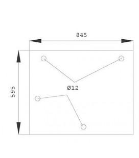 VITRE ARRIERE CASE IH 1535079C1 , 1535079C2 , MC1535079C2