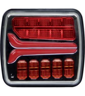 FEU ARRIERE DROIT OU GAUCHE DYNAMIQUE CARRE 4 FONCTIONS LED 12-24V TECHNI POWER