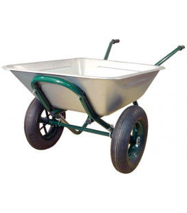 BROUETTE POLYVALENTE 150 LITRES GALVA 2 ROUES GONFLEES
